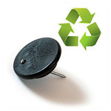 recycled plastic 'button' hanger