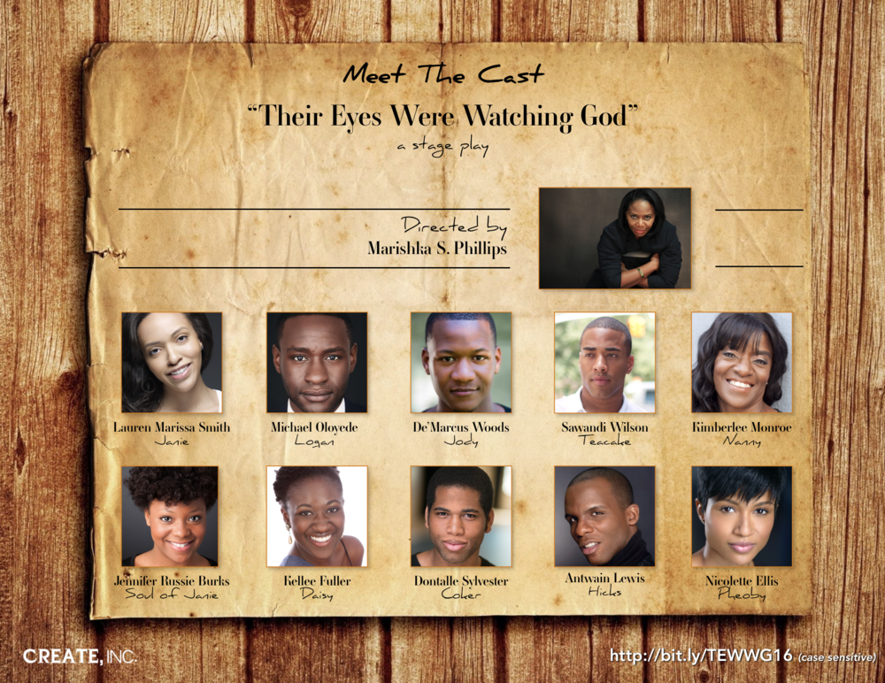 Members of the cast of Their Eyes Were Watching God promoting the play at Abyssinian Baptist Church in Harlem, NY