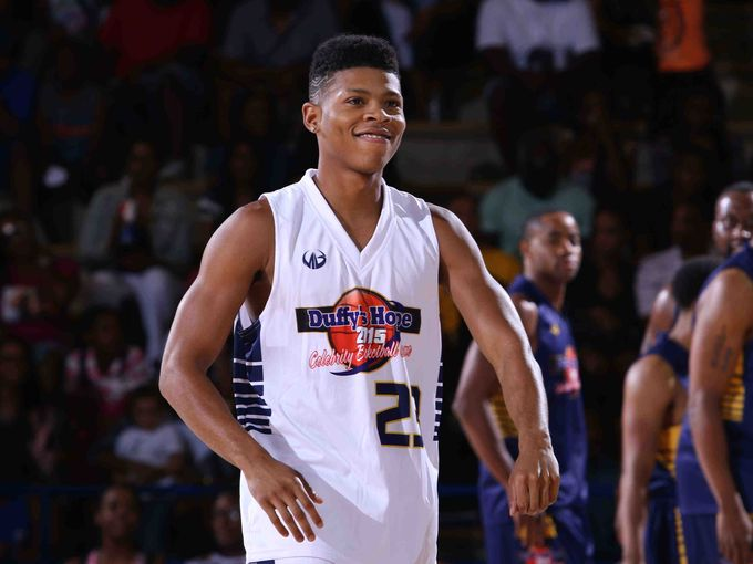 """Yazz the Greatest aka Bryshere Gray (of hit TV show """"EMPIRE"""") taking the court  NewsJournal/Saquan Stimpson"""