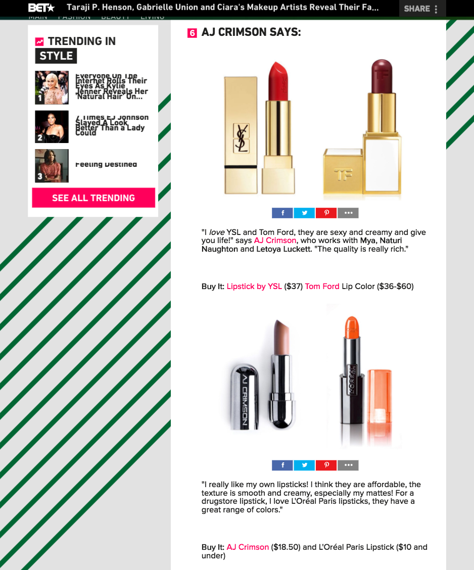 High and Low Lipsticks -