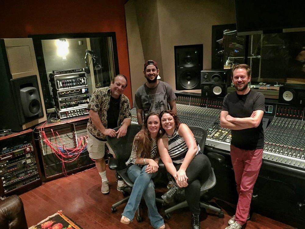 Making new music in a studio where so many greats have preceded us....is there anything better? Here with Girl Named Jake at Studio Trilogy in SF