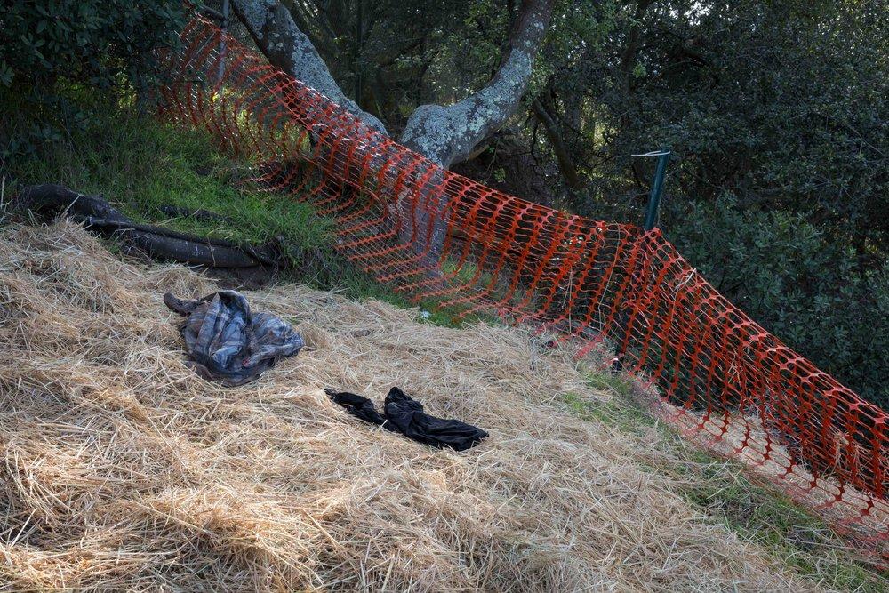 Man's shirt. Black fleece. Safety net. (2017)