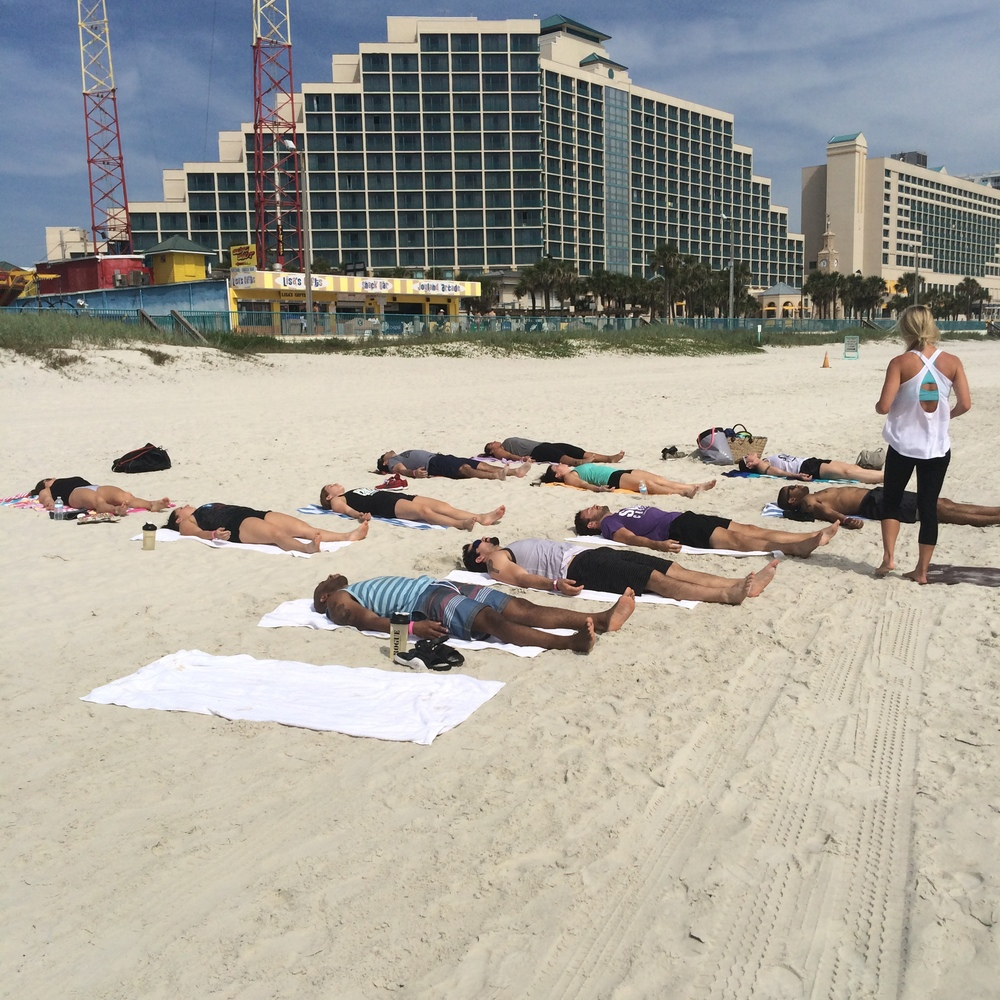 SUBU does Yoga on the beach!