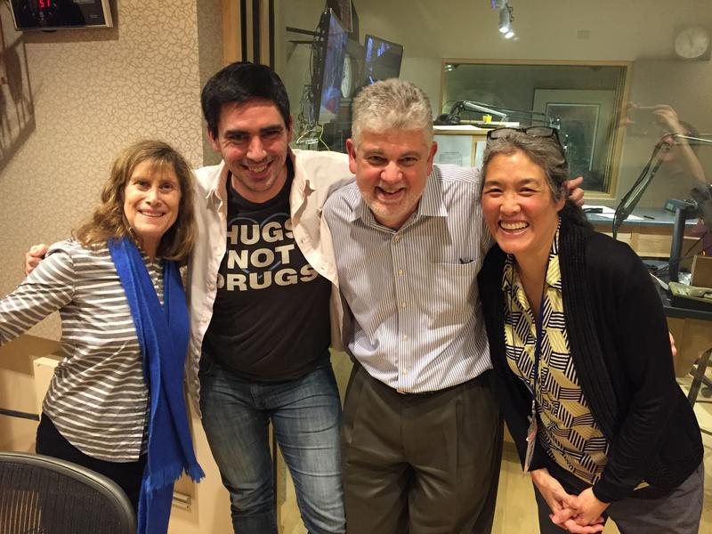 "Joni Balter, me, Randy ""Enforce the Law"" Pepple, and Deborah Wang; Photo credit: KUOW"