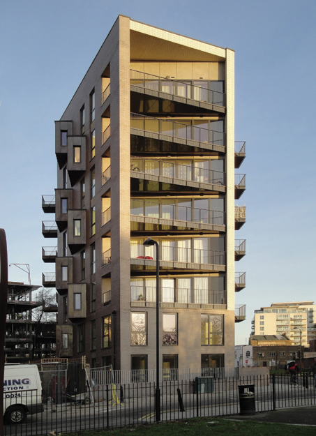 An 8-story CLT building in the UK.