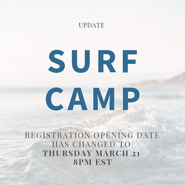 Due to a few hiccups, we moved registration opening date to March 21, 2019 at 8PM EST. Thank you for understanding! We can't wait to get in the water!