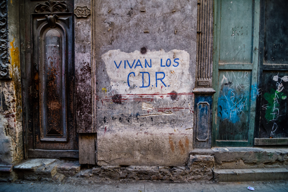 """Vivan los C.D.R."", Havana, Cuba, Jan. 2013"
