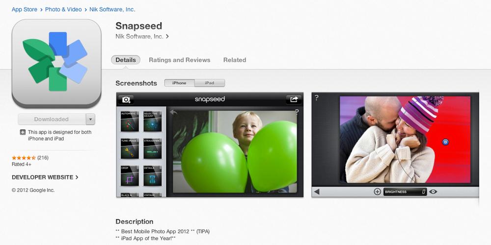Snapseed-app-store
