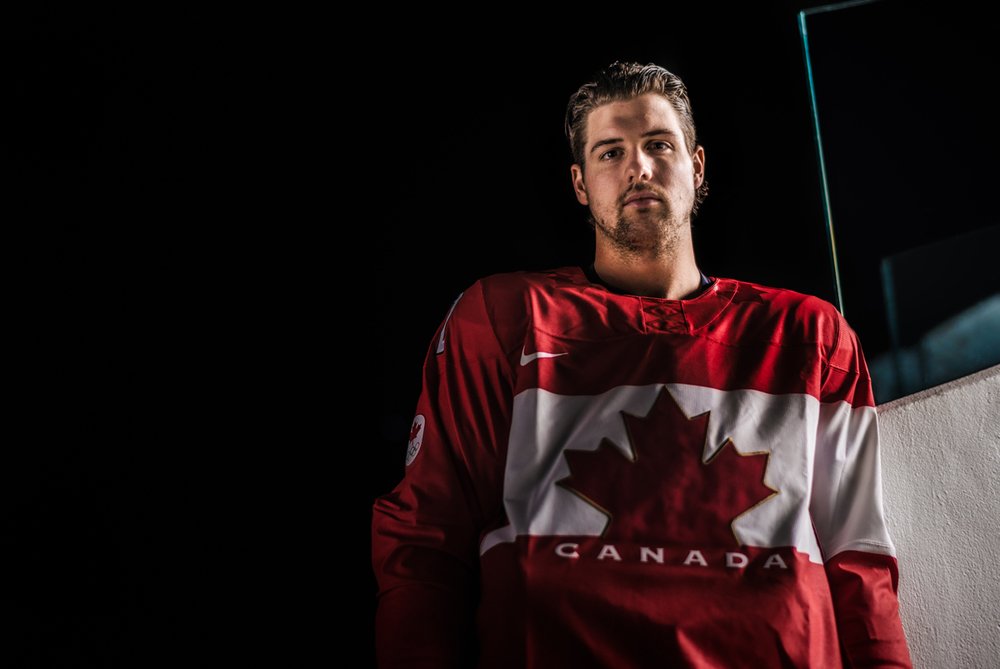 Jamie in his Team Canada sweater, a week before departing for Sochi, Russia.