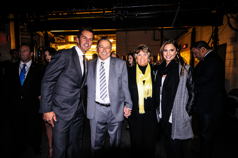 A Modano family portrait prior to the start of the ceremony.