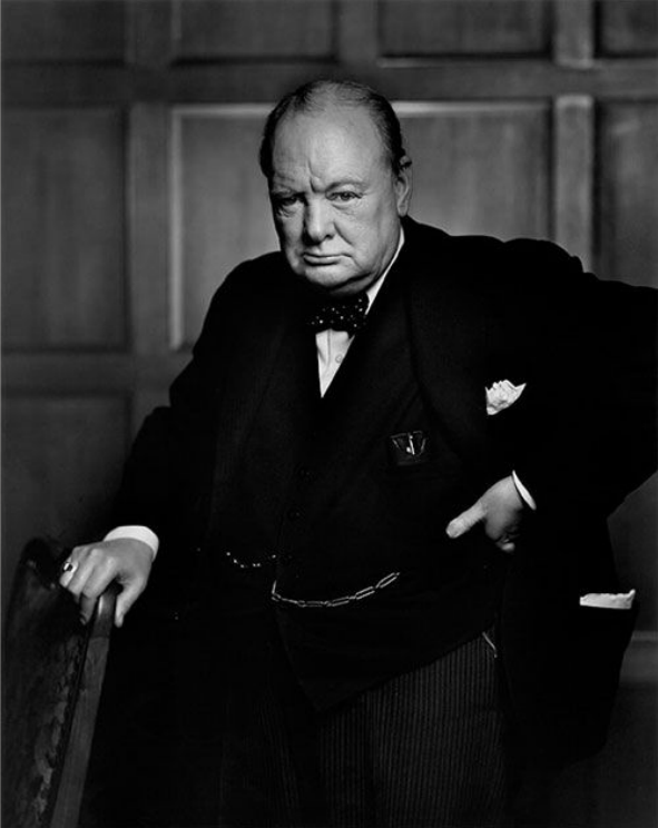 Winston Churchill , 1941. Photo by Yousuf Karsh.