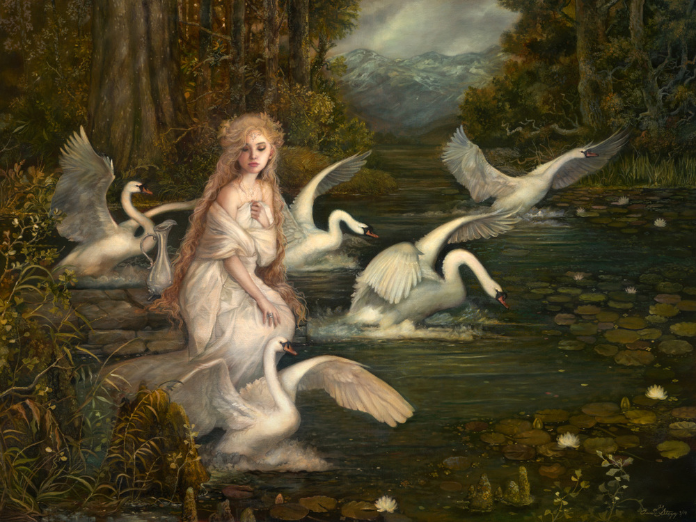 The Lady of Lórien  18x24  Oil on Belgian Linen