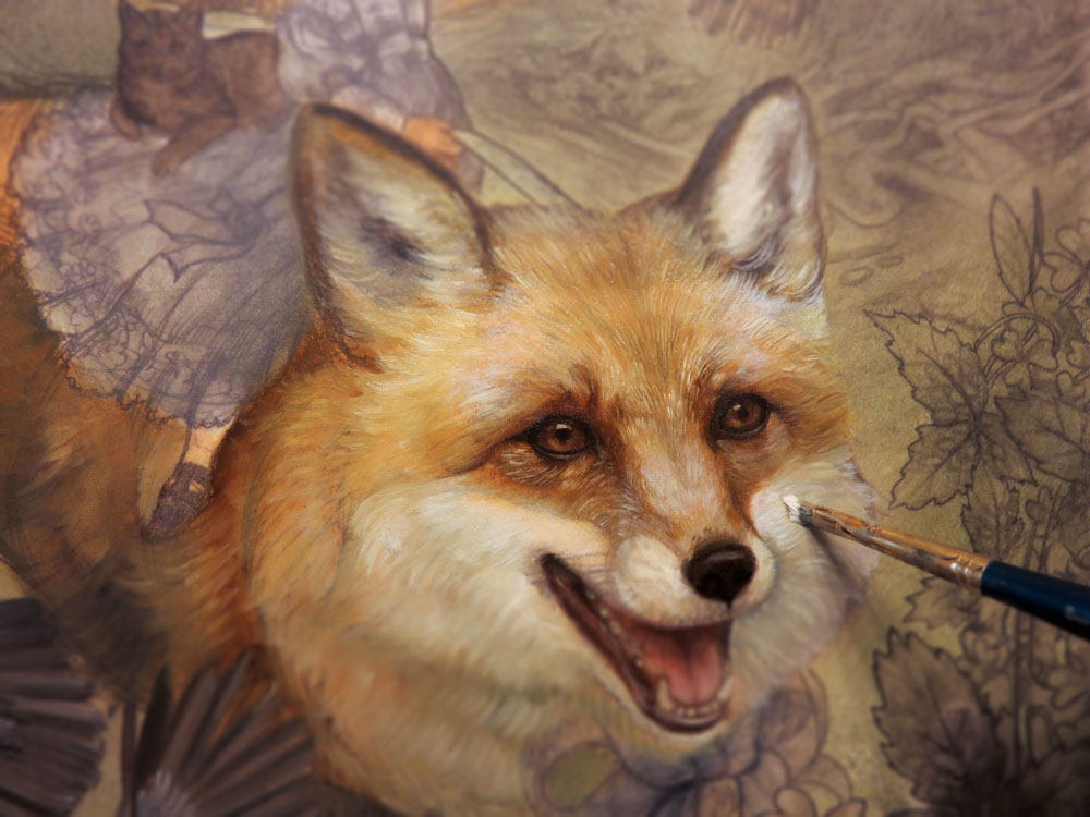 Renard And The Strawberries Painting Demonstration