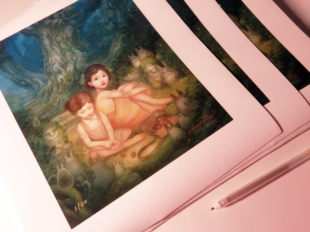Limited Edition Giclee canvas prints (run of 50)