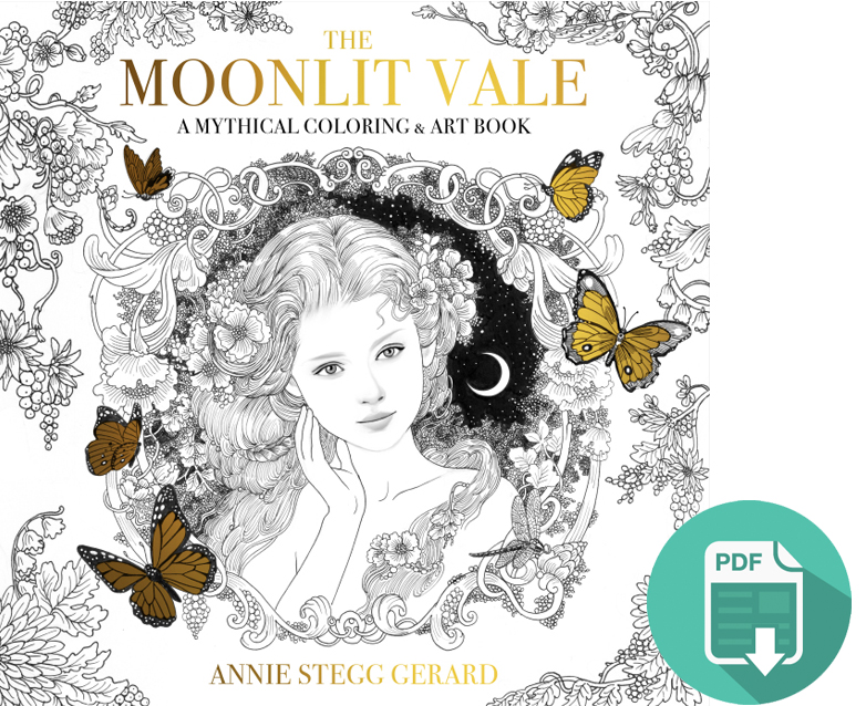 The Moonlit Vale Coloring Book Digital Download — Gallery Gerard