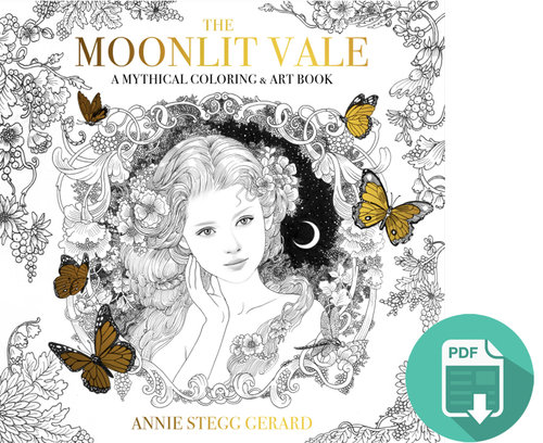 The Moonlit Vale Coloring Book Digital Download — Gallery Gerard