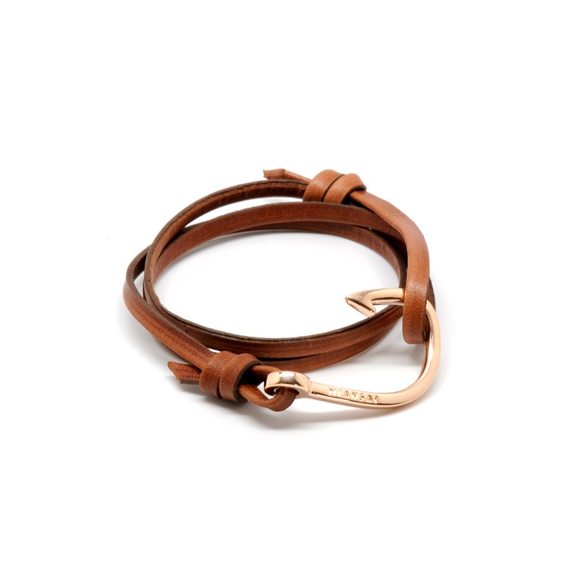 Rose Gold Hook On Italian Leather