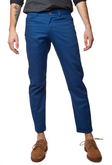 Blue Twill Men's Summer Pant