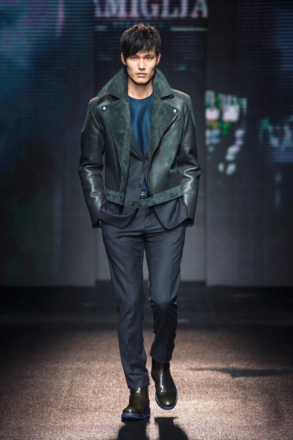 Leather Suade Biker Jacket