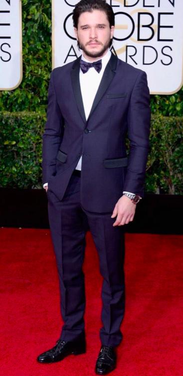 Kit Harington Giorgio Armani Golden Globes