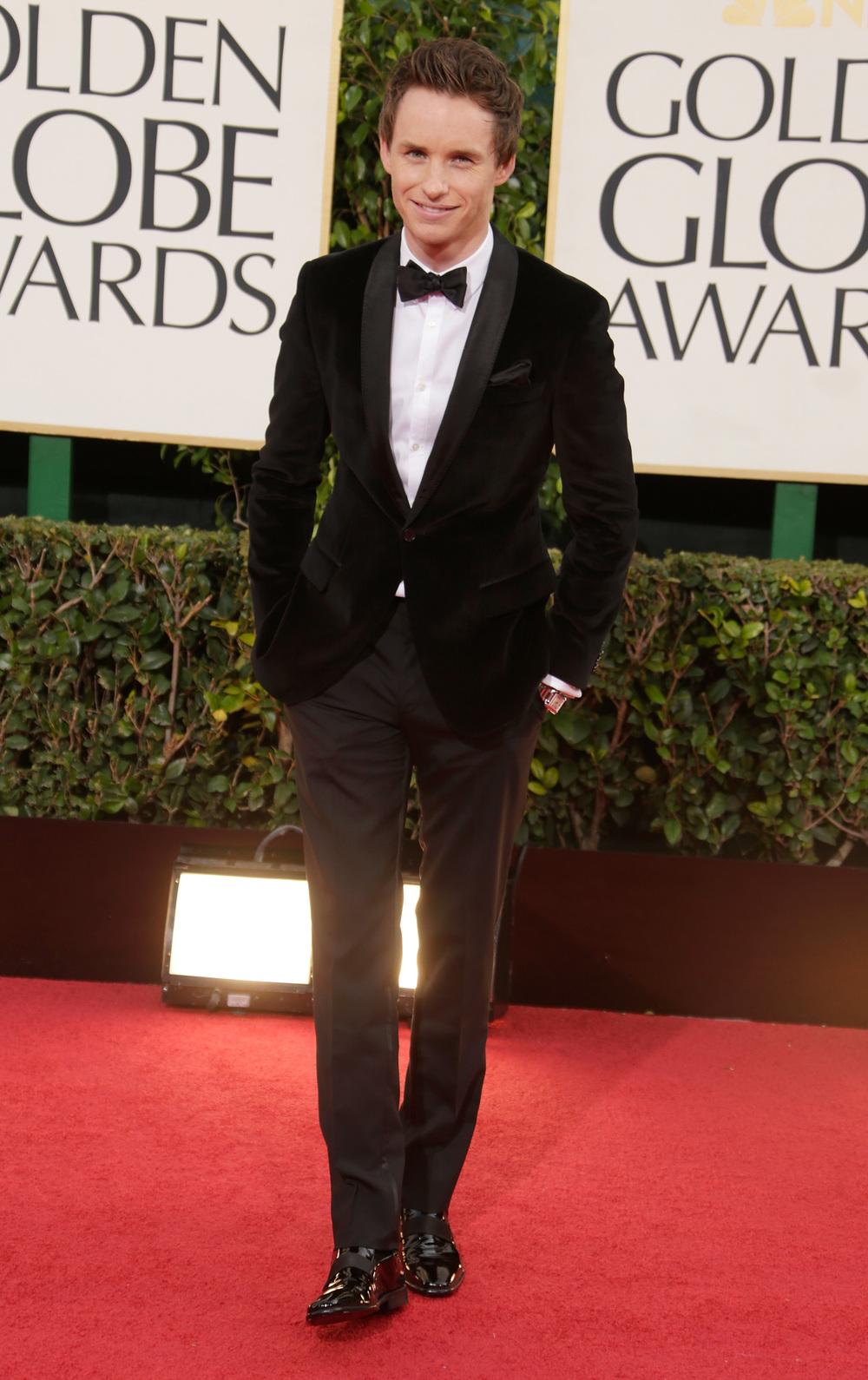 Eddie Redmayne Gucci Golden Globes