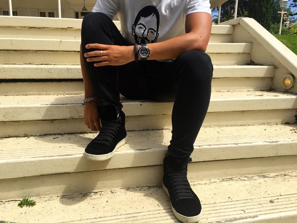 tom ford suede sneakers black