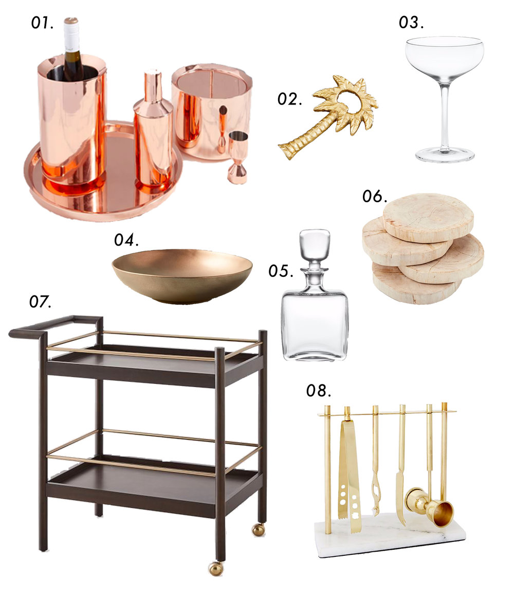 how to pull off the perfect bar cart setup