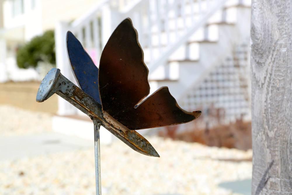 Butterfly Garden Stakes Metal Elementz