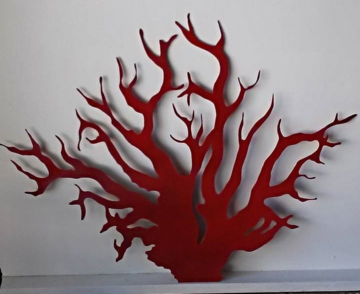 Red Coral Wall Art