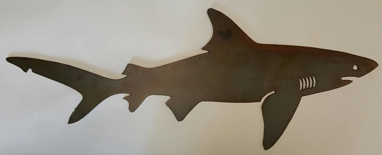 Shark Wall Art metal wall art — metal elementz