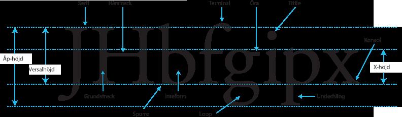 typografi är en stor del av trycksaker