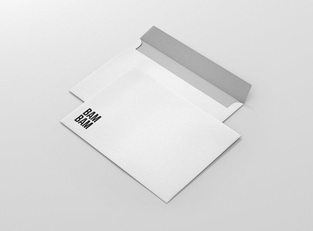 kuvert med tryck