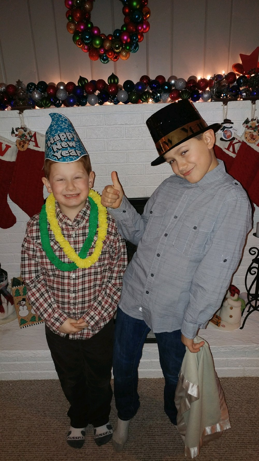 Tyler, 7, on the left and Kyle, 11, on the right