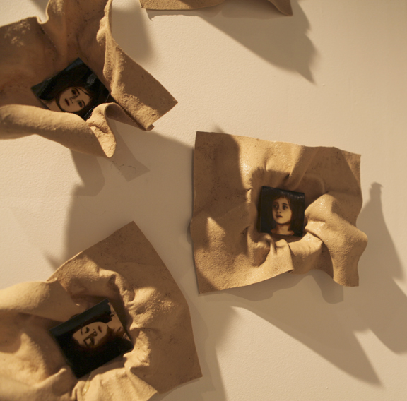 Unfolding Life Installation detail, 2011, Mixed Media (Samantha)