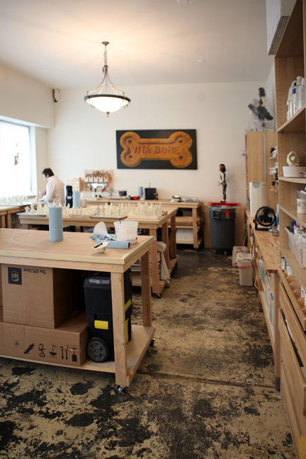 Encaustic and painting studio
