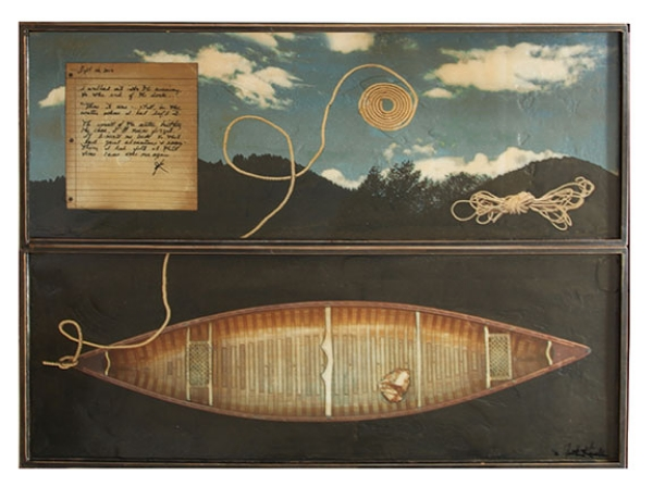 "Voyage, 2012, Mixed Media on 2 panels, 48"" X 60"