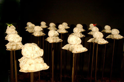 Recurring Dream Installation,  2005, Mixed Media  (all sold but 6)