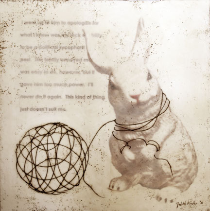 "Tangled Rabbit, 2010, Mixed Media, 36""X 36"""