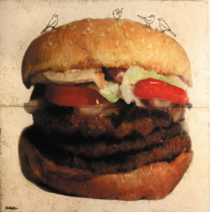 "Triple Whopper, 2006, Mixed Media, 72"" X 80"""