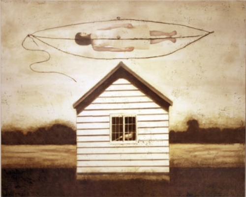 "Coming Home , 2011, Mixed Media, 48"" X 60"""