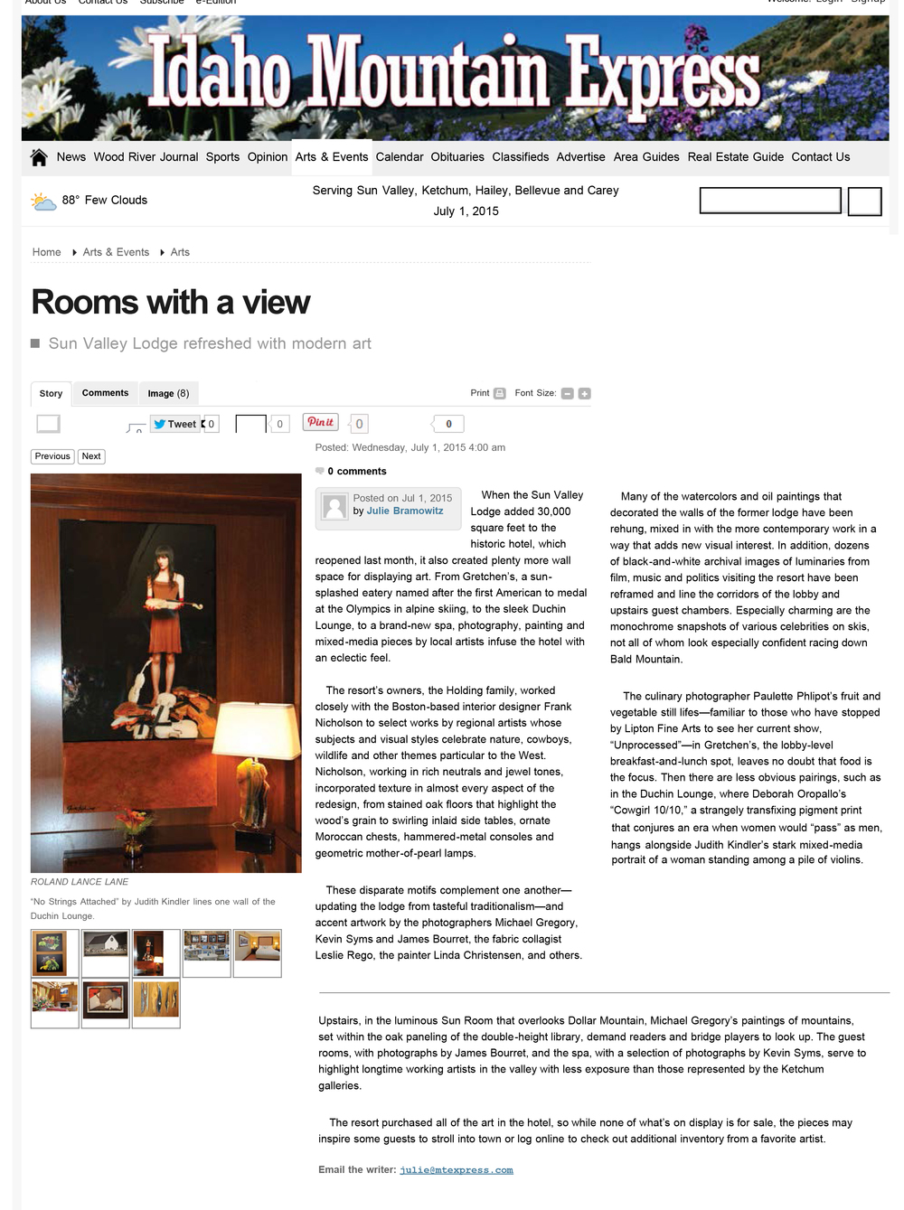 Rooms with a view - Idaho Mountain Express Newspaper: Arts