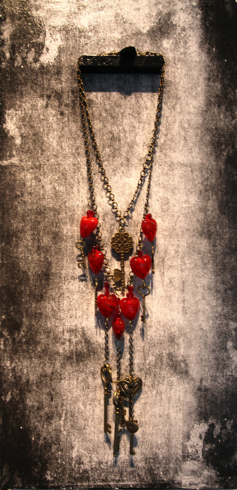 JK 003 Necklace with panel, 2016 Mixed Media