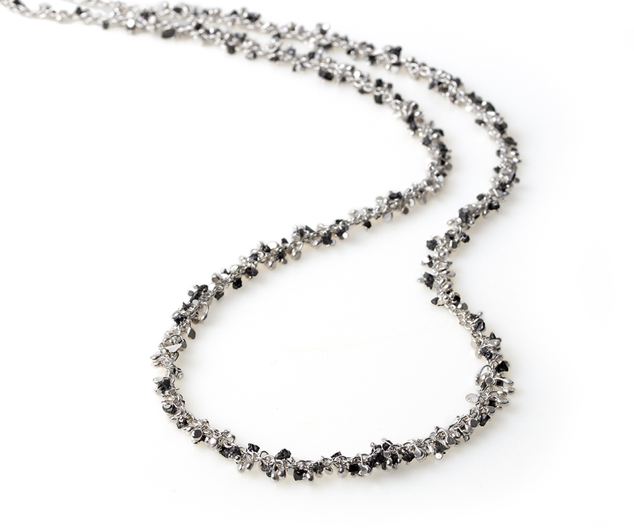 Black dmnd chips ssilver neck.jpg