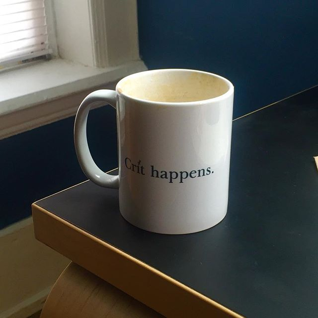 The first mug to be unpacked and put into operation at the new place is all so appropriate. Thanks again @ramyasat and @ayodhkamath , it really is a cherished gift.  #thatarchitecturelife #espresso #movingdays #postprocessedgradschool