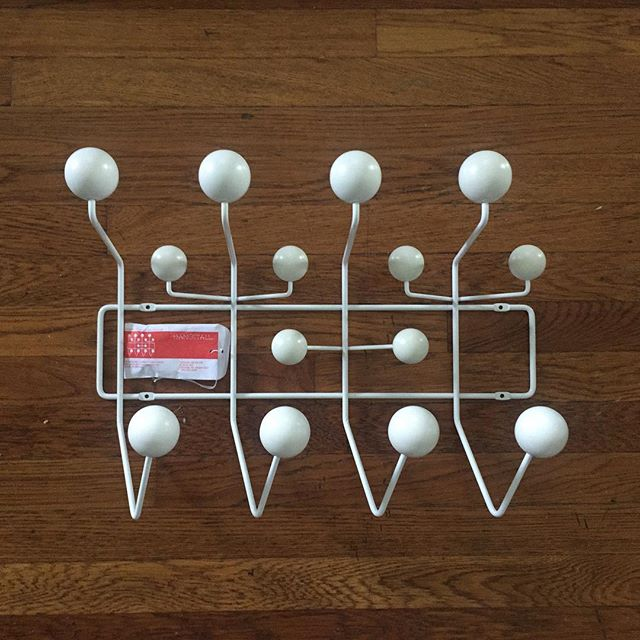 Admiring the coat rack @hungry_architecture got me for my birthday. Not only have I been wanting this piece for a while, but there is something extra special about getting an #eames design for #hermanmiller while being a West Michigan resident.