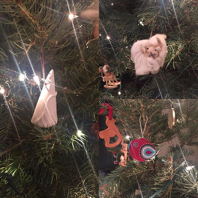 New ornaments for our substantially larger tree. #yule