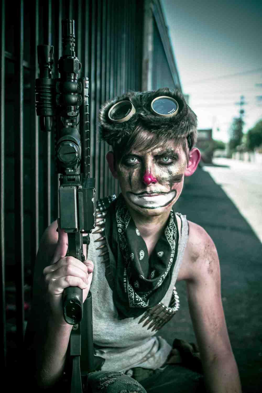 Echo the Clown - Gun Pose - Kyle Rea Photography