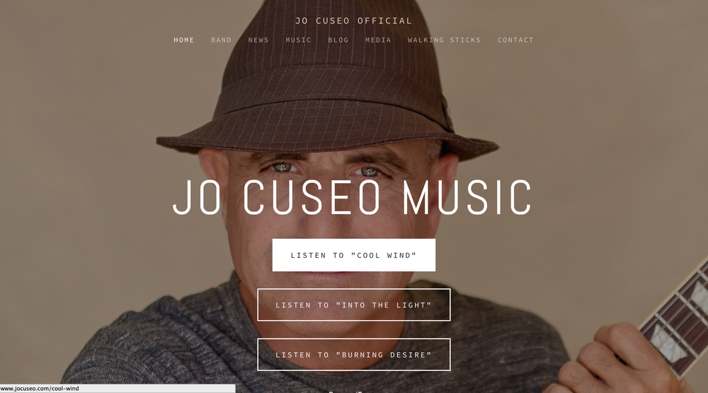 Jo Cuseo Musician / Artist - Website by cREAtive Castle Studios