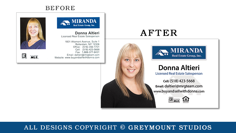 Business card design in Clifton Park, NY