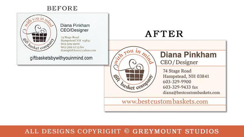 Business card design in Saratoga Springs, NY